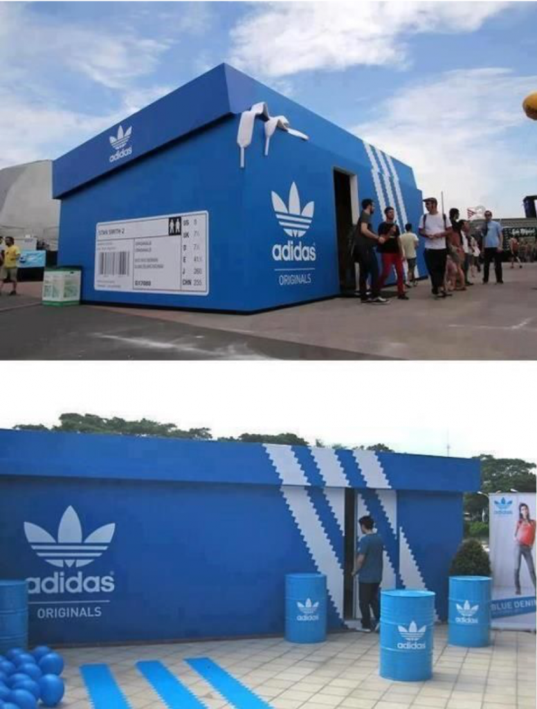 Estande criativo Adidas